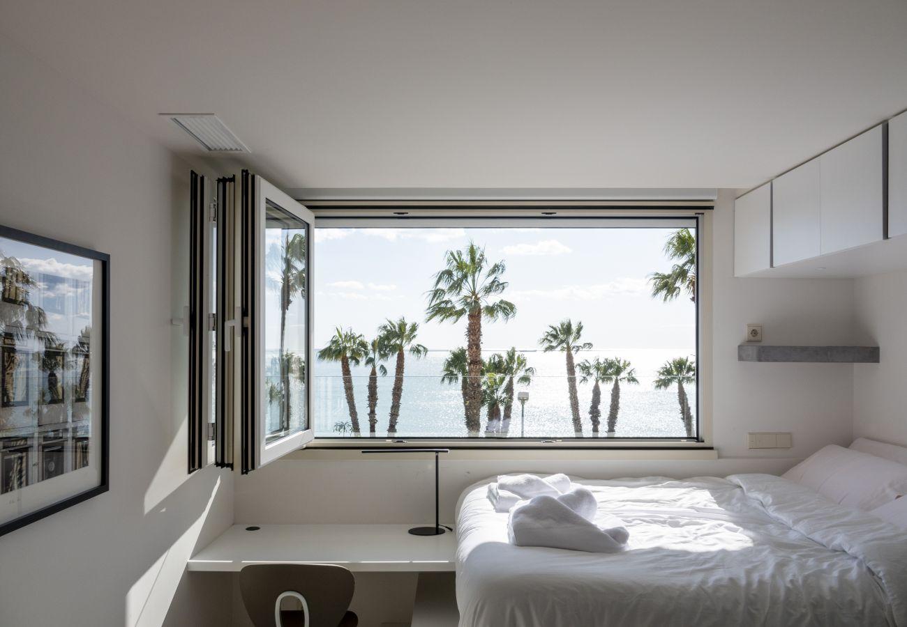 Ferienwohnung in Málaga - Casa Pirulo Meerblick